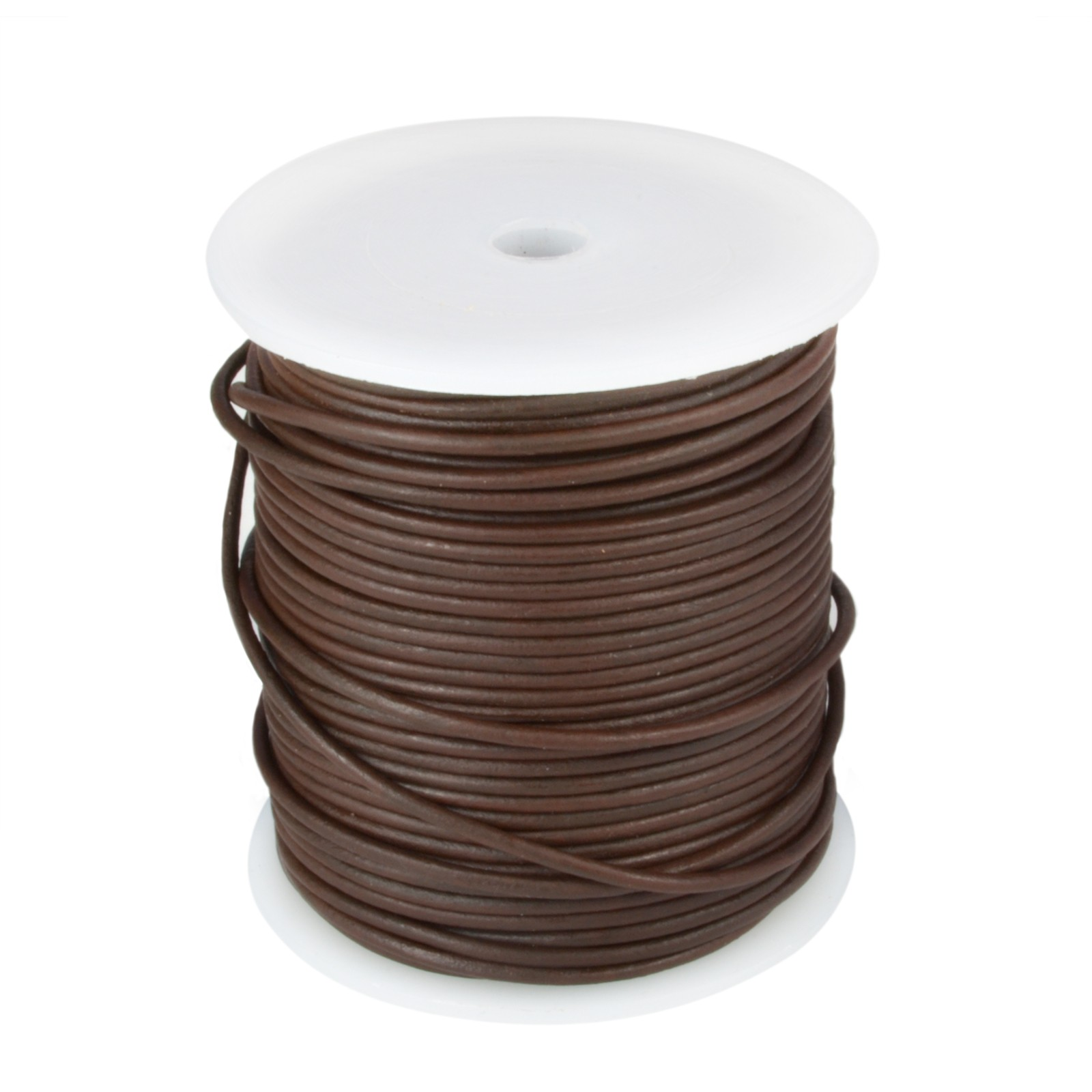 Brown 50mtr  Leather Spool 2mm