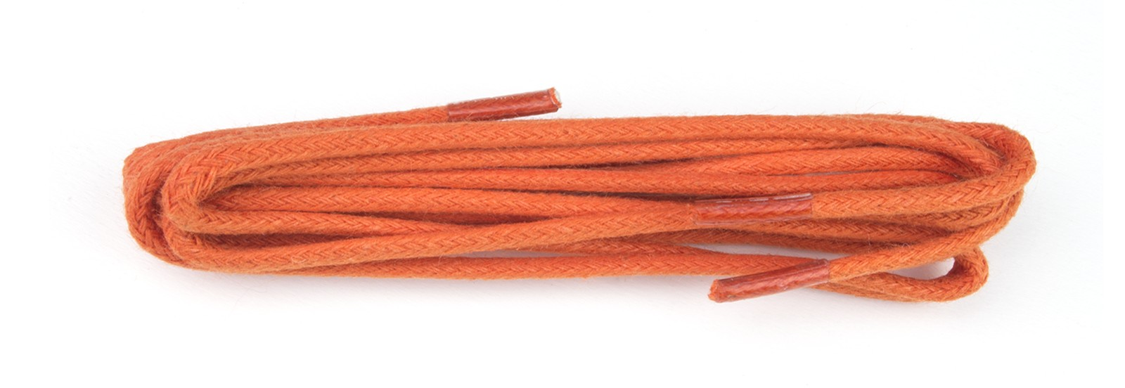 Orange Wax Polished 2mm Fine Round 75cm Laces