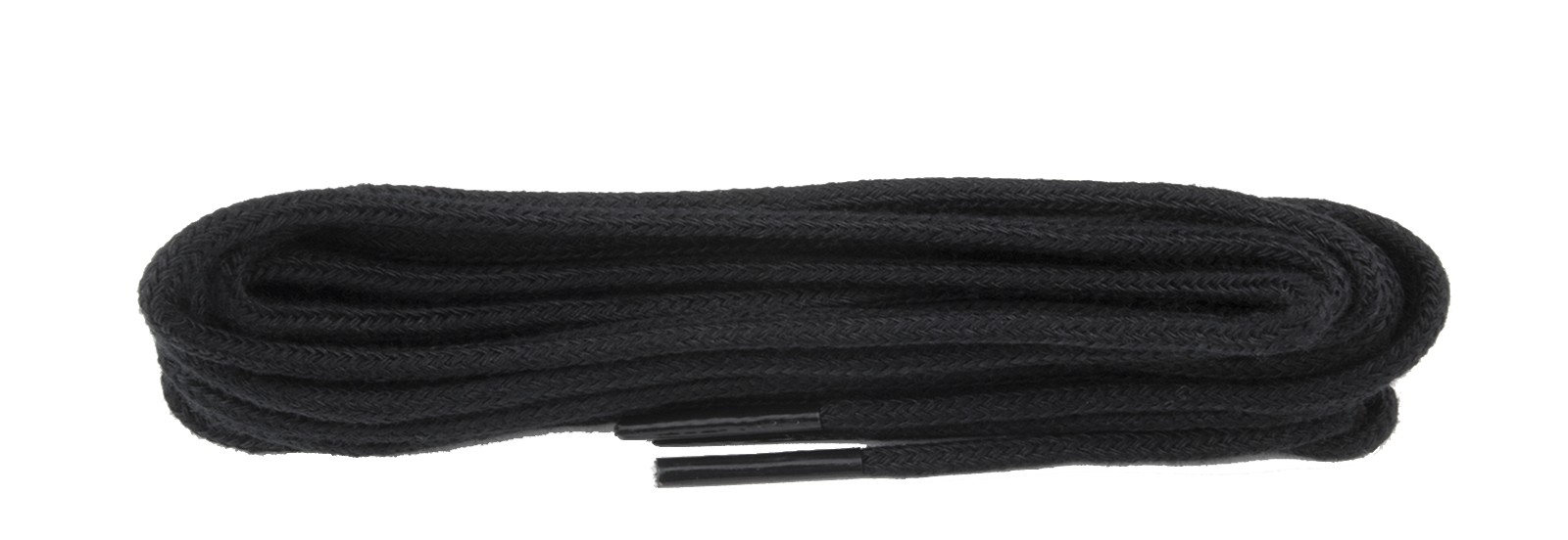 Black 2mm Round Laces