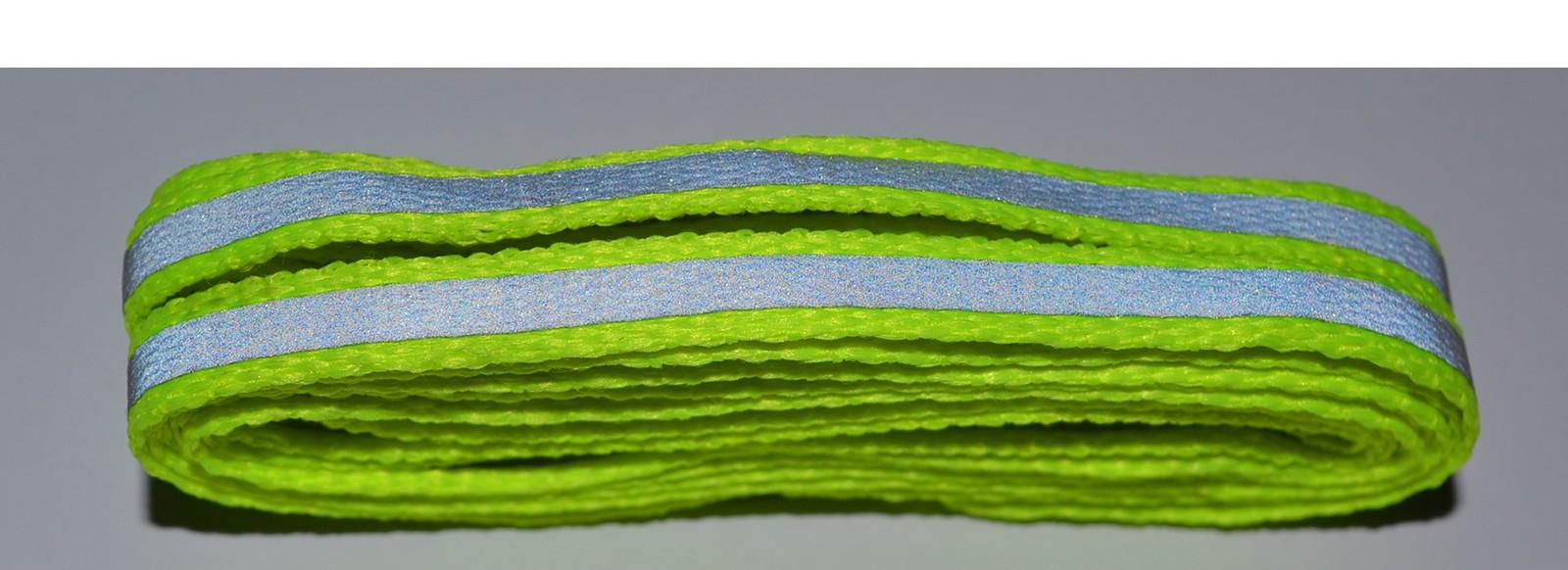 Flo Yellow Flat Reflective Laces