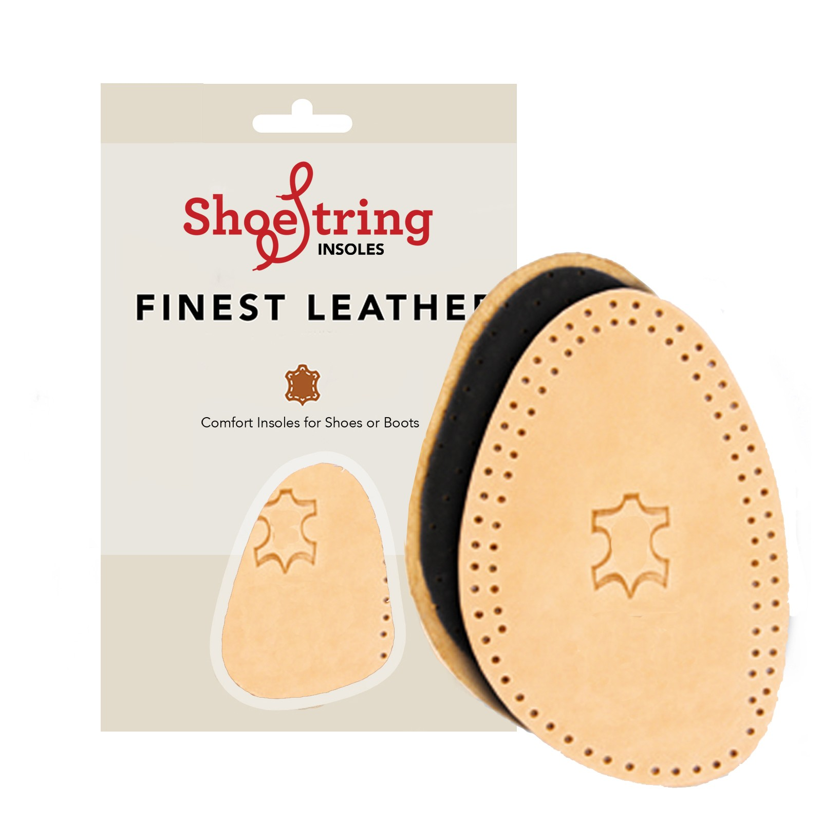 Shoe String Insoles Leather Deo Half Sole