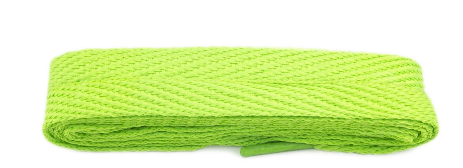 Lime 120cm American Flat 10mm Laces