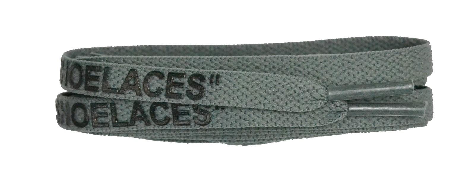 "Grey 120cm Flat ""shoe Lace"" Print Banded"