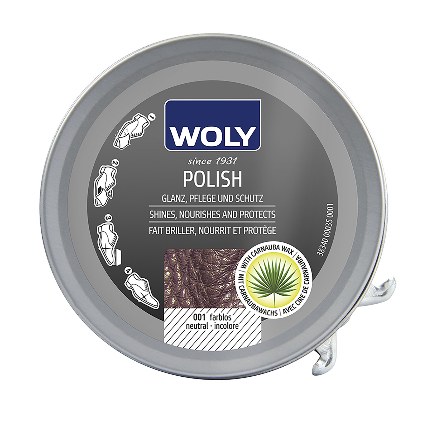 Woly Shoe Polish 50ml Select Colour