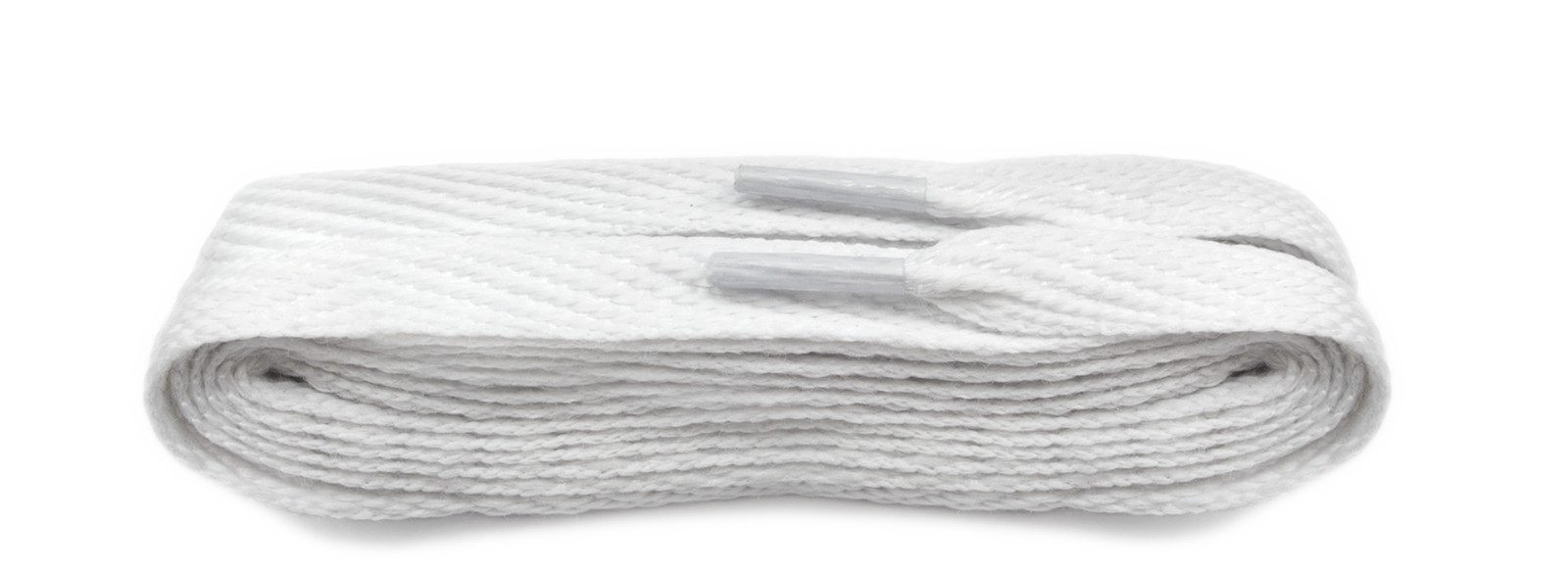 White 120cm American Flat 10mm Laces