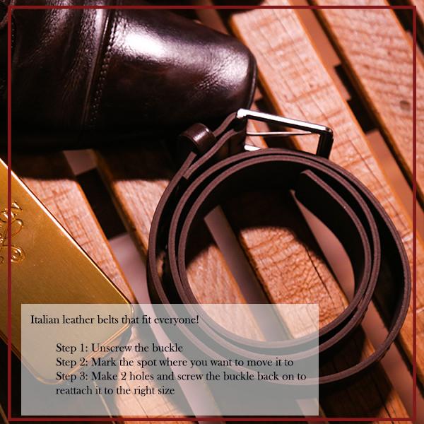 Belts Leather 40mm Jean Yellow 130cm