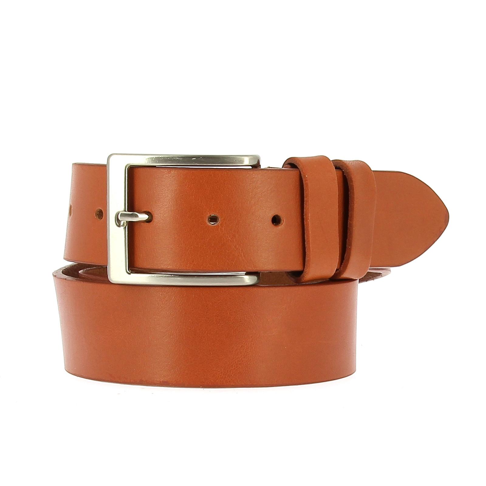 Belts Leather 40mm Jean Orange 130cm
