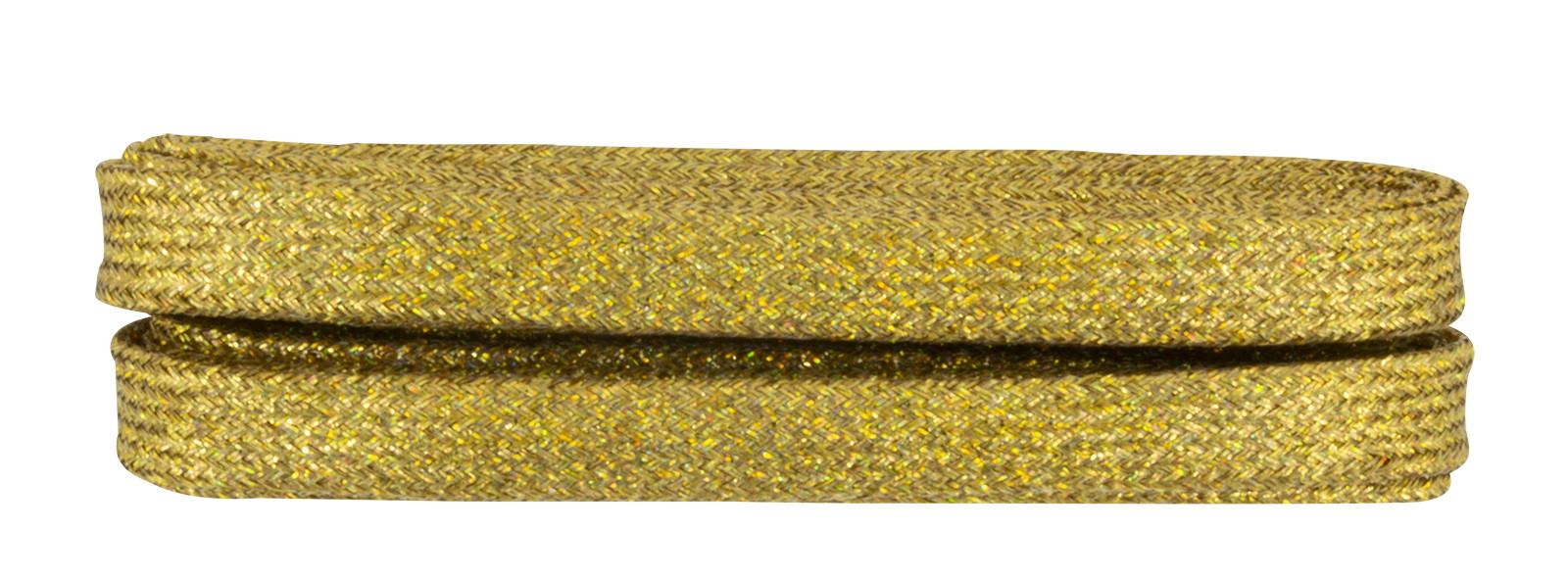 Gold Flat Metallic Laces 120cm
