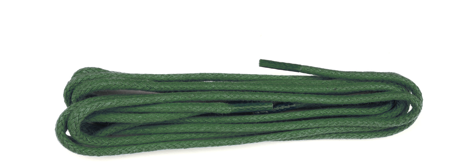 Green Waxed 3mm Round Laces