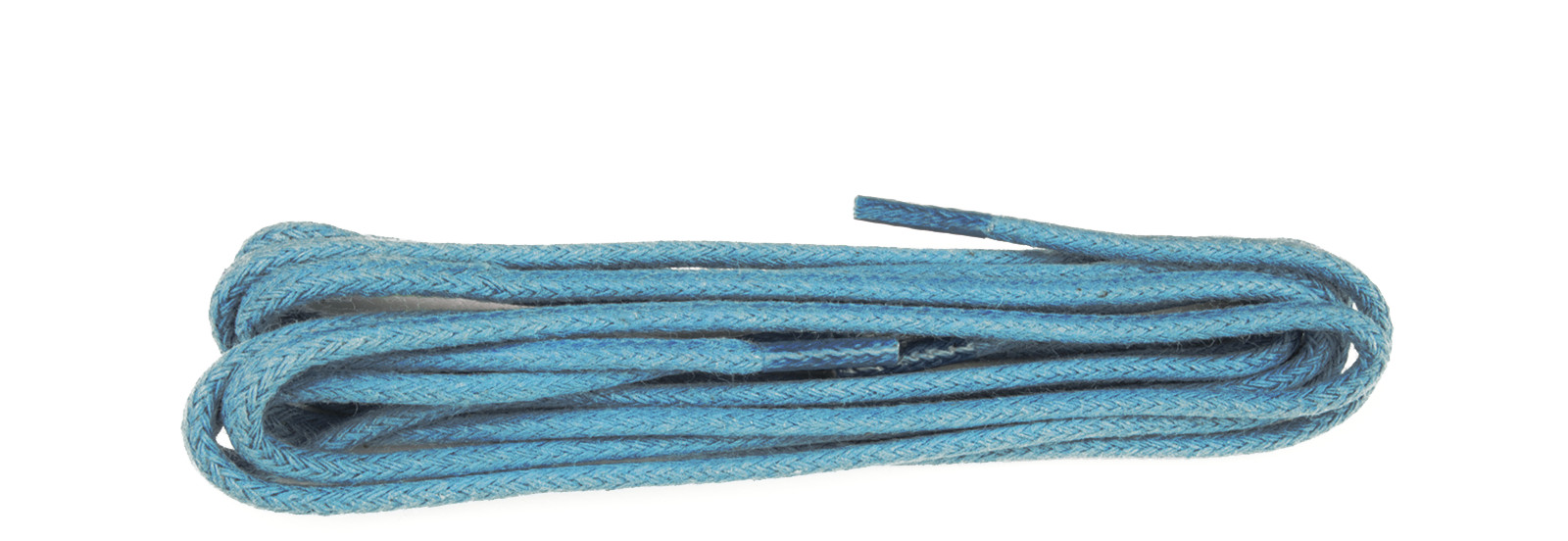 Electric Blue 3mm Round Waxed Laces