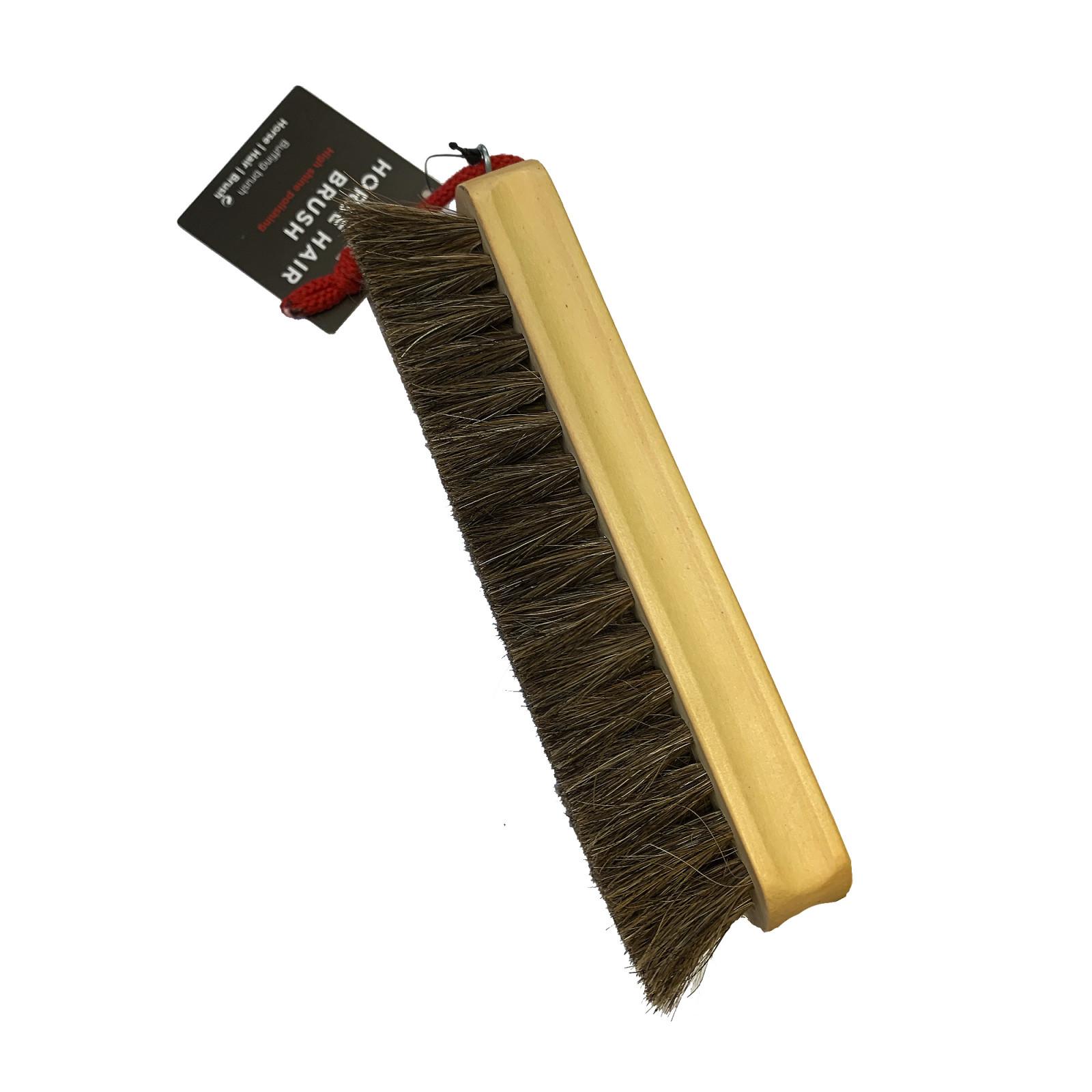 Shoe String Brushes Real Horse Hair Polish Blister 17cm