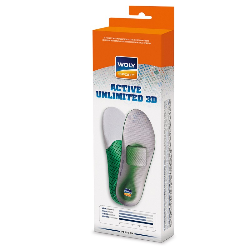 Woly Active Unlimited 3d Insoles Select Size