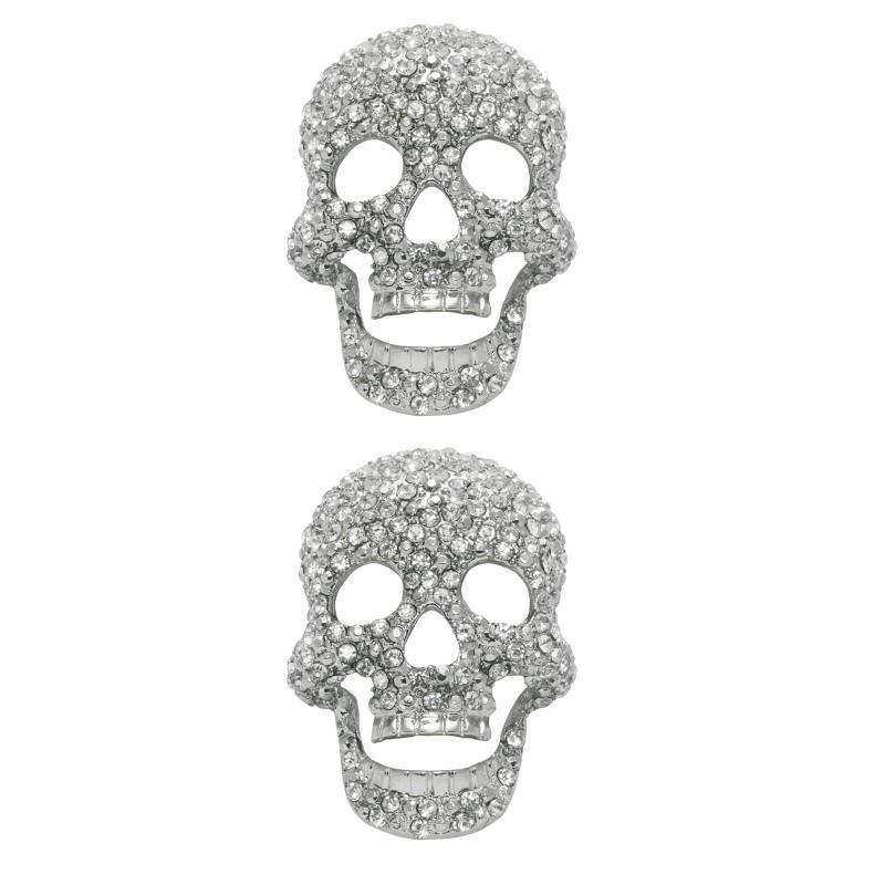 Shoe Clips Diamond Skull