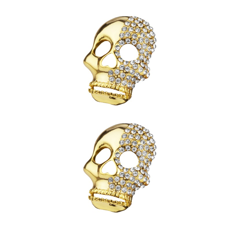 Shoe Clips Two Faced Skull