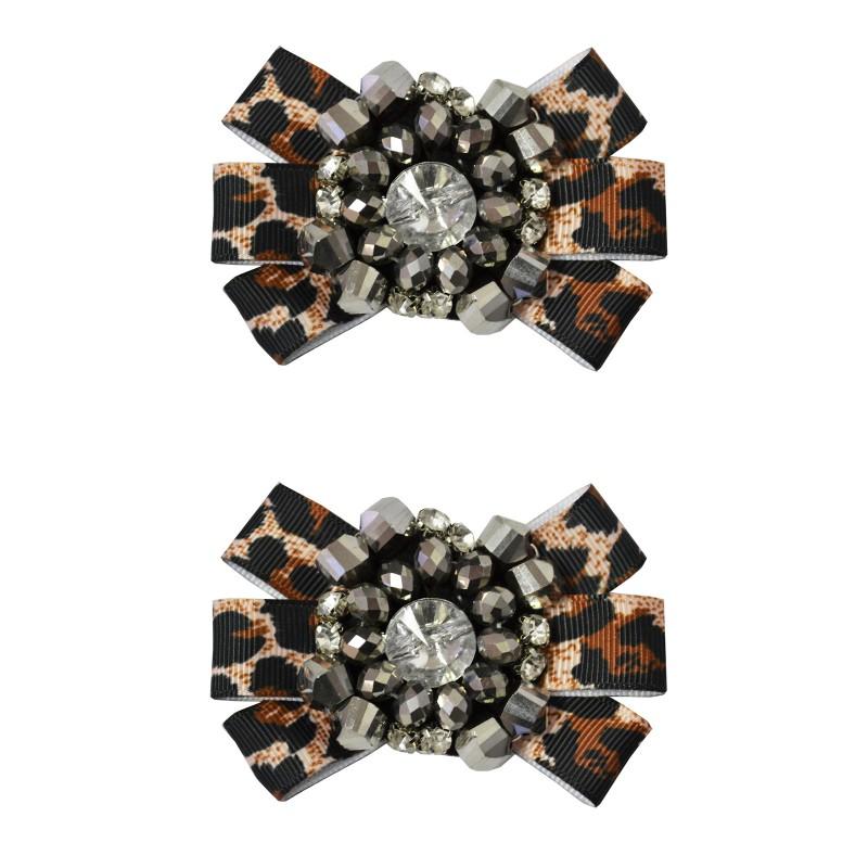 Shoe Clips Leopard Print