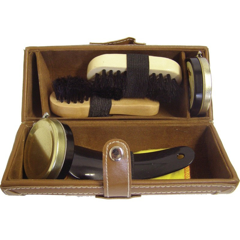 Shoestring Kit Shoe Brown Barrel - A Shoe Assorted Contents