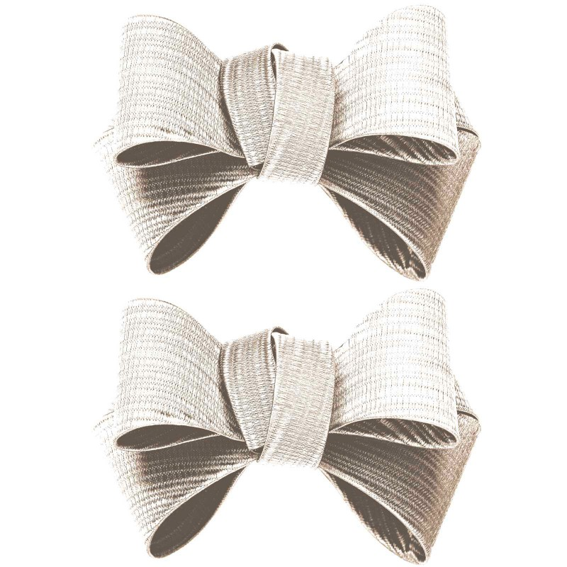 Shoe Clips White Triple Bow