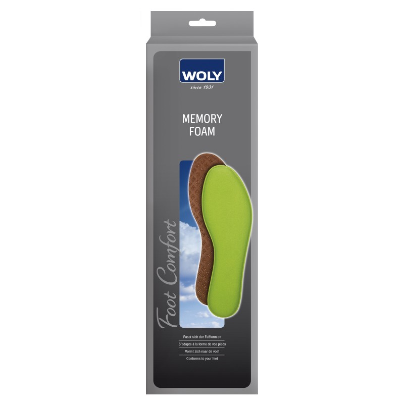 Woly Memory Foam Insoles Select Size