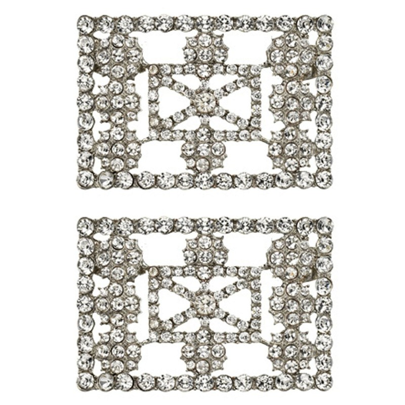 Shoe Clips Classic Diamante Buckle