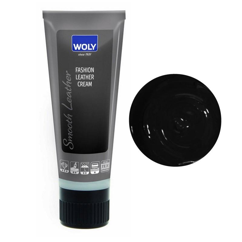 Woly Black Fashion Leather Cream