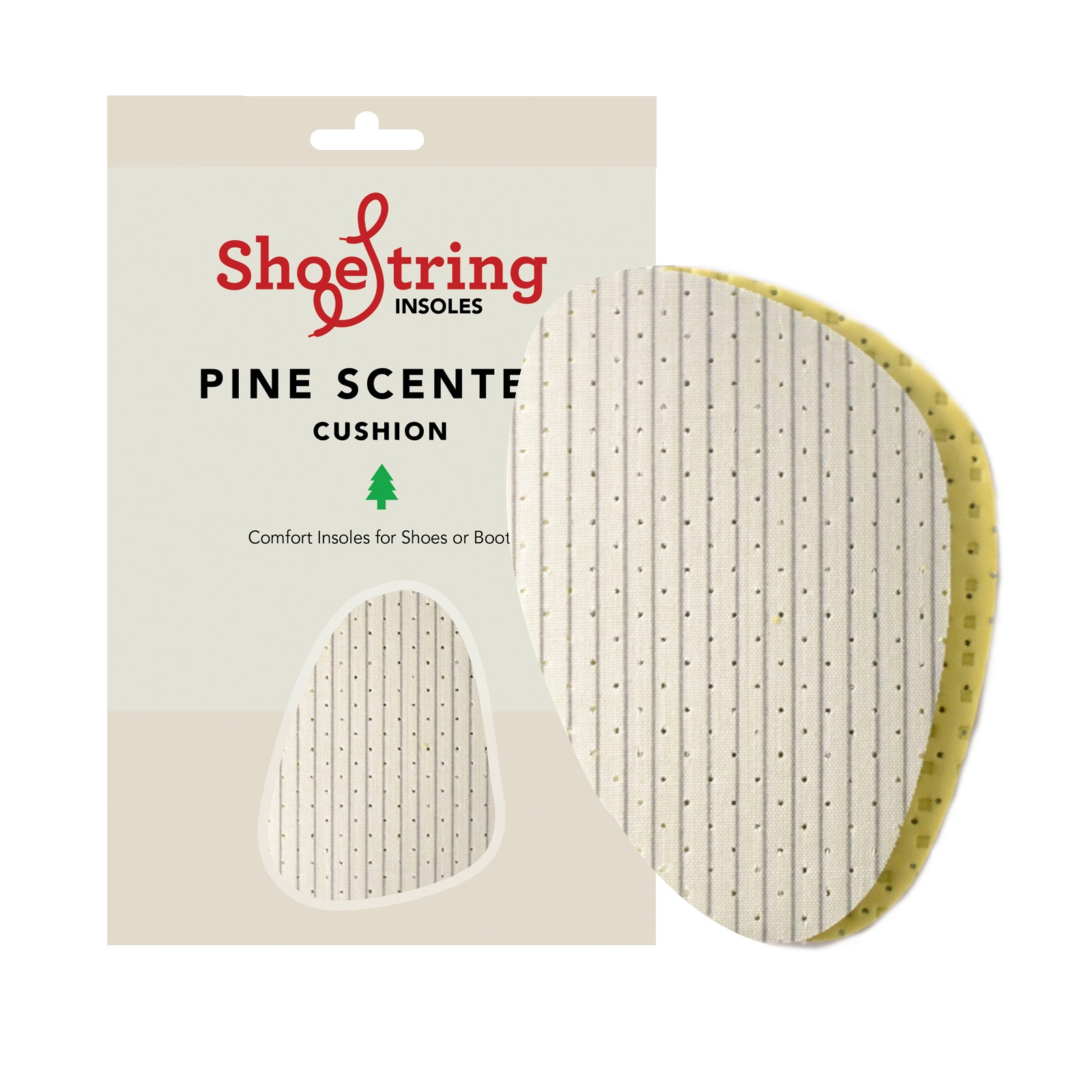 Shoe String Insoles Green Pine Half Sole