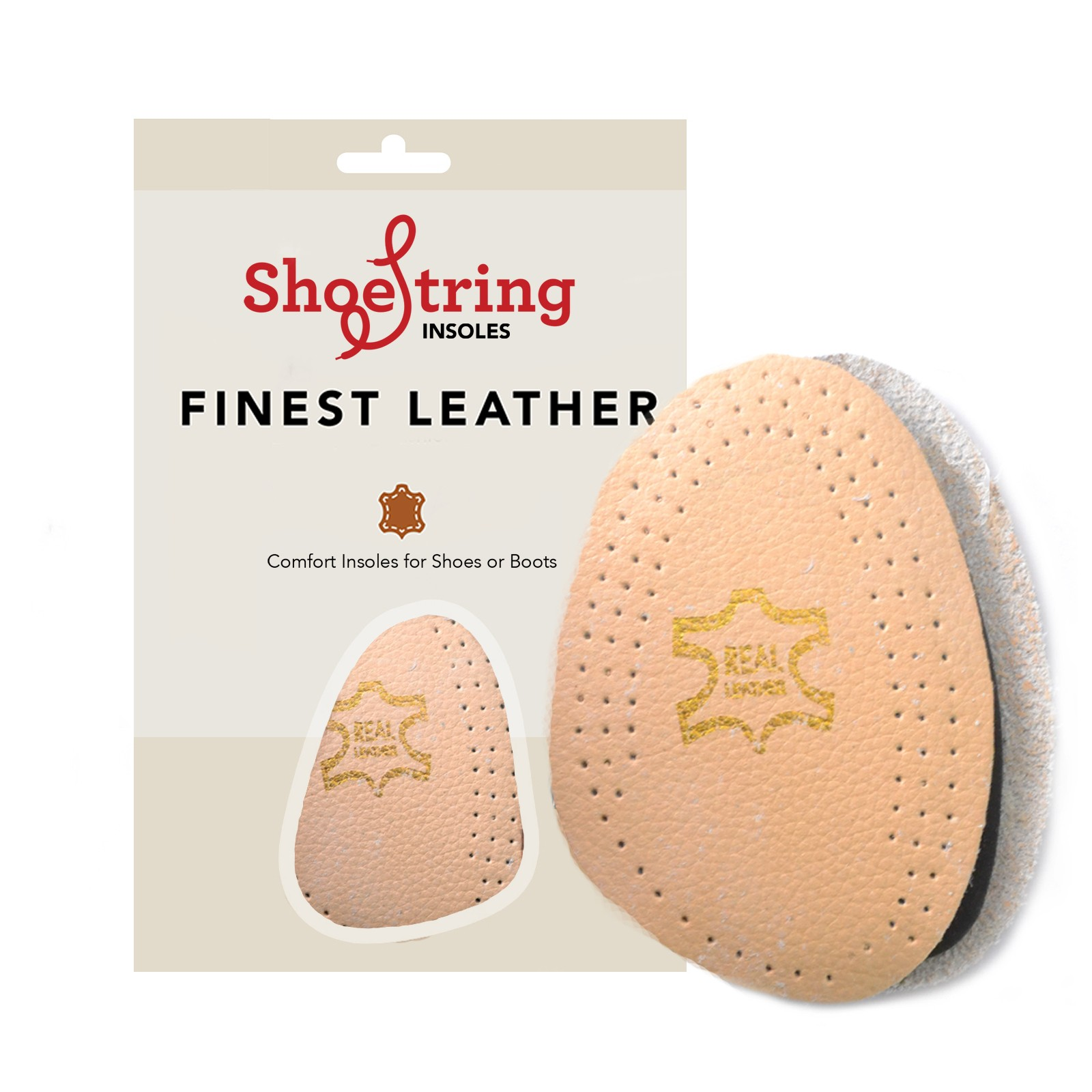Shoestring Insoles Leather Half Sole