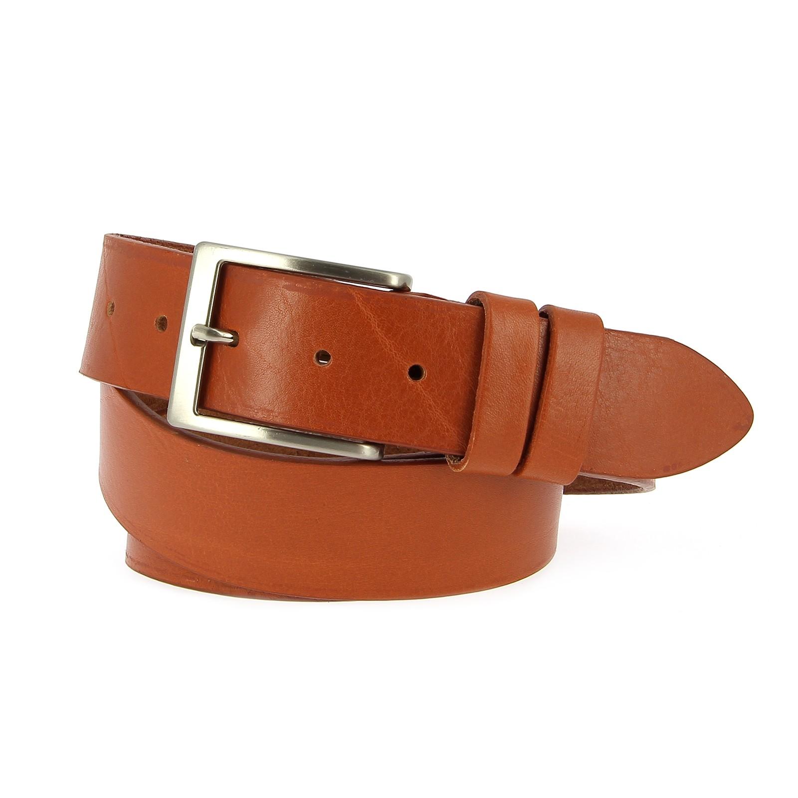 Belts Leather 40mm 130cm Jean Cognac