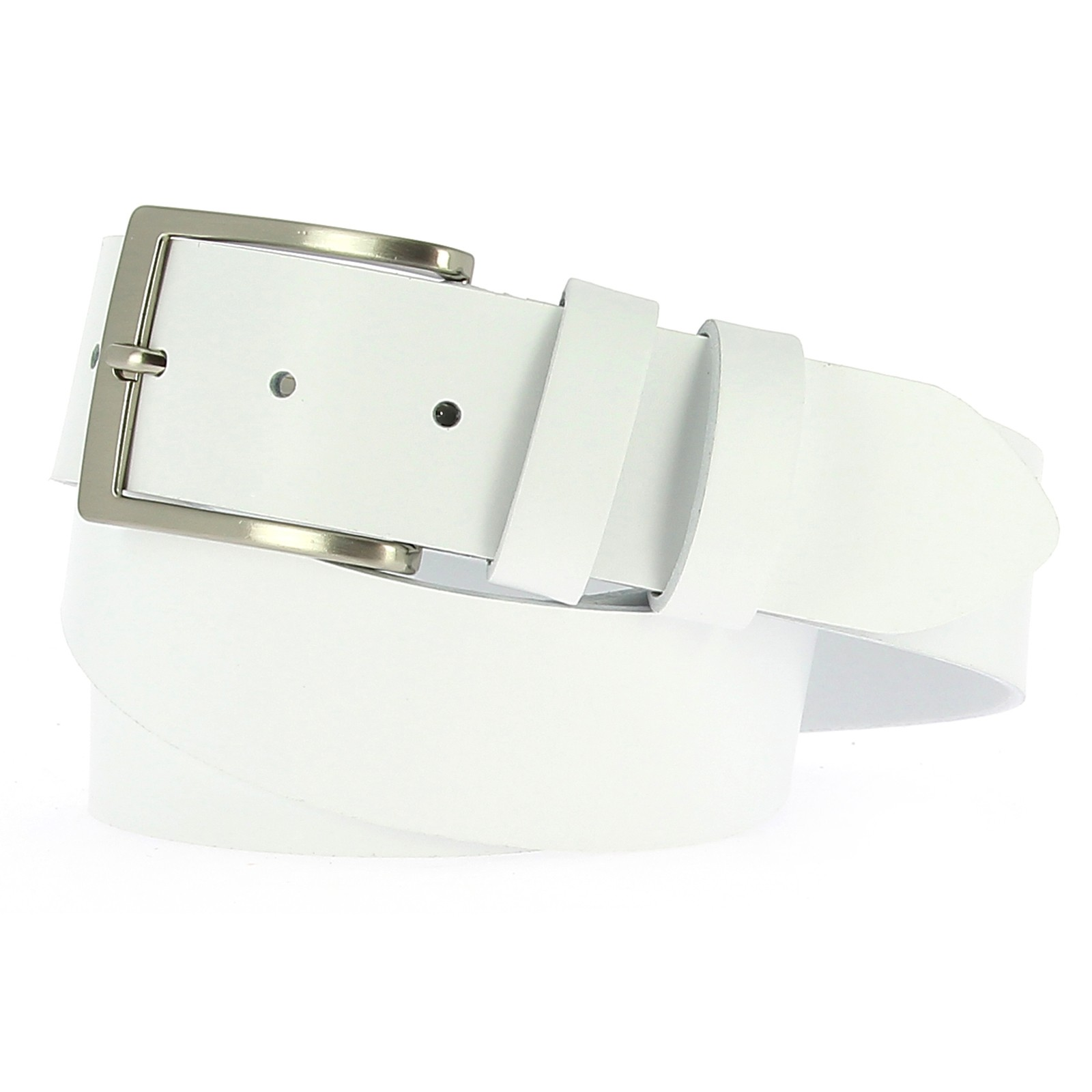 Belts Leather 40mm Jean White 130cm