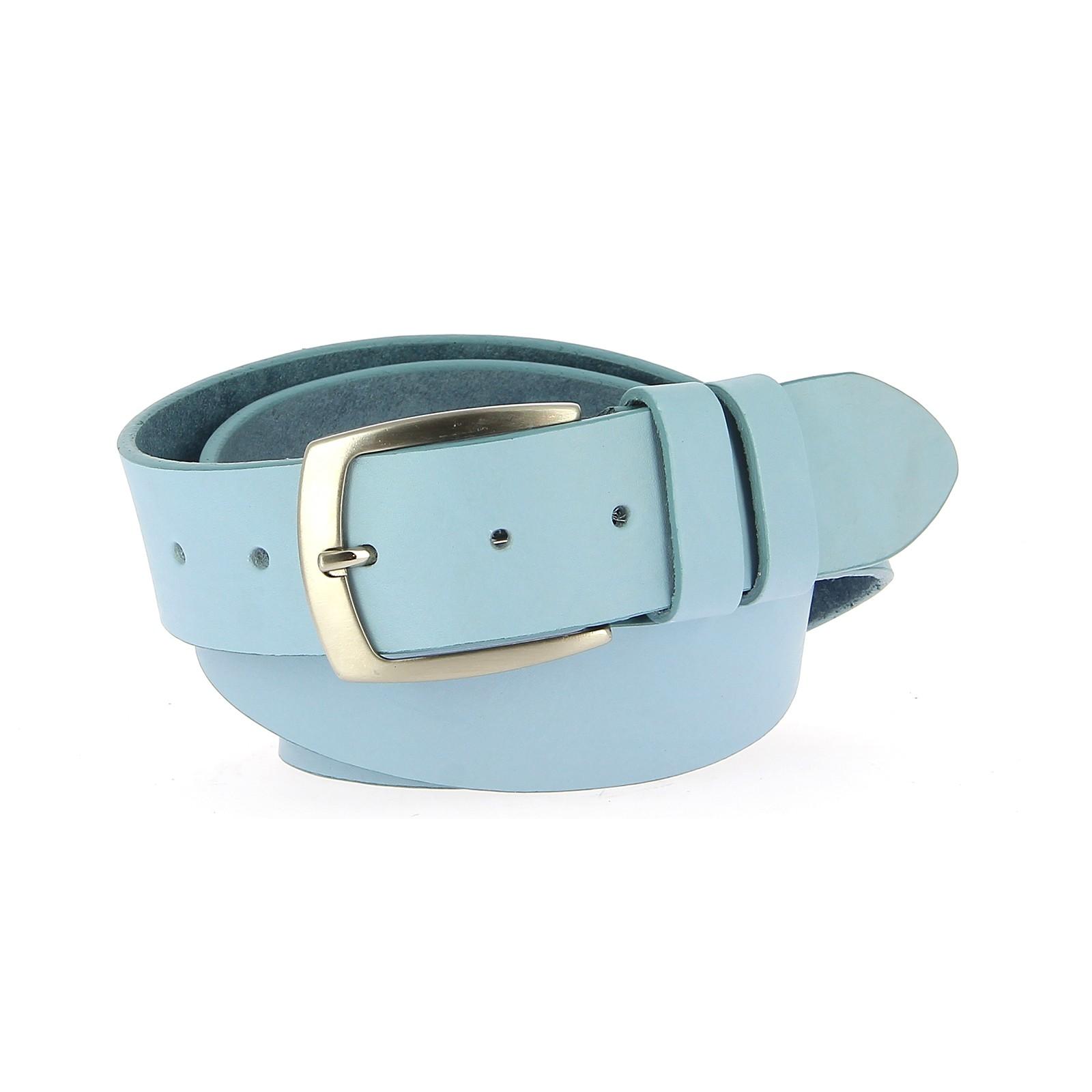 Belts Leather 40mm Jean Sky Blue 110cm