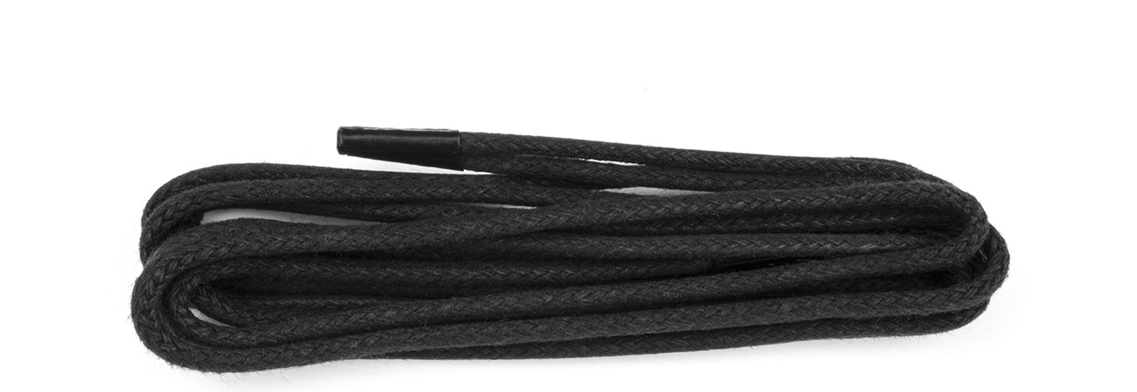 Black Wax Polished Fine 2mm Round Laces