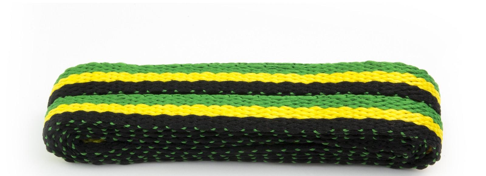 Sneaker Black/green/yell Stripes