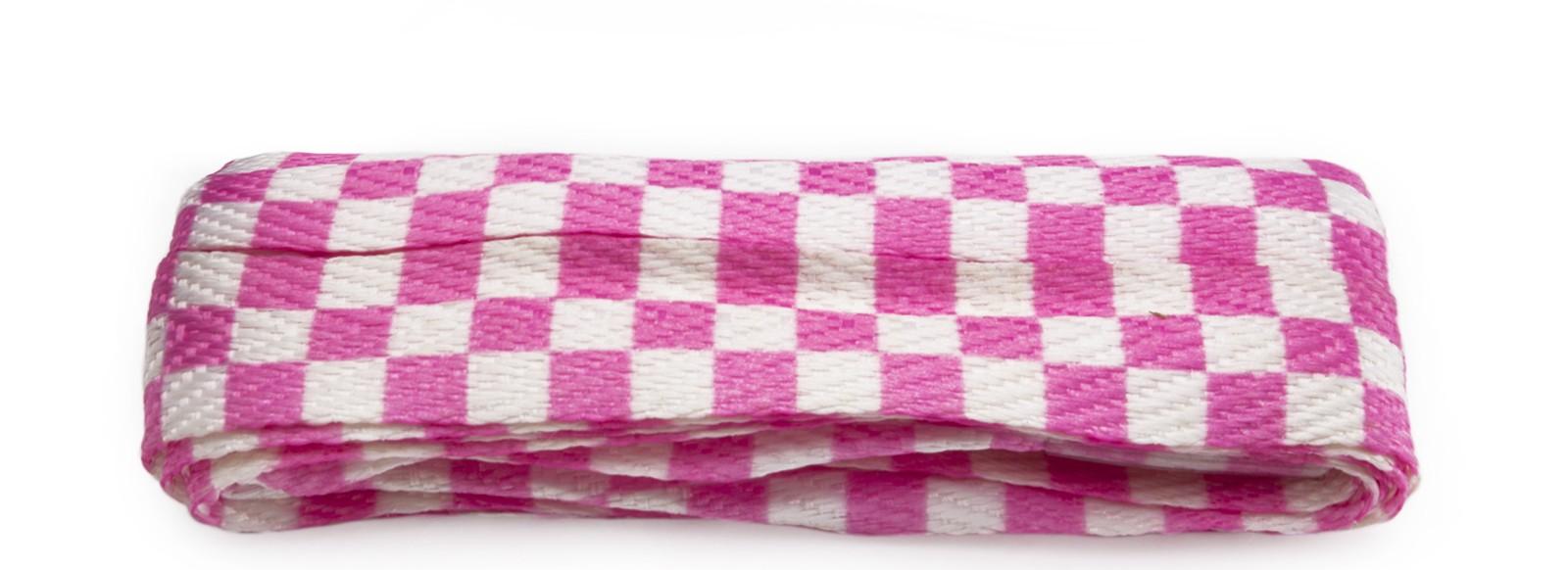 Sneaker Pink/white Checkerboard Wide