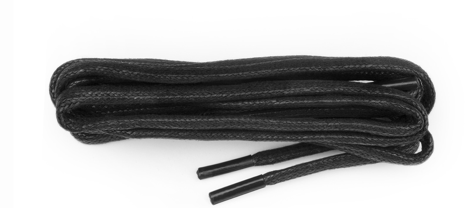 Black Chunky Wax Laces 5mm