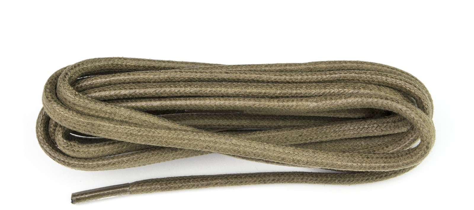 Taupe Chunky Wax Laces 5mm