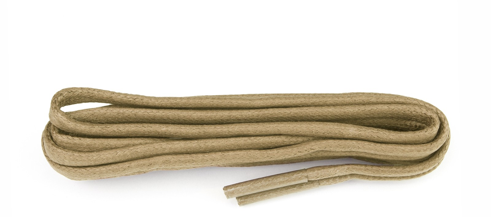Beige Chunky Wax Laces 5mm