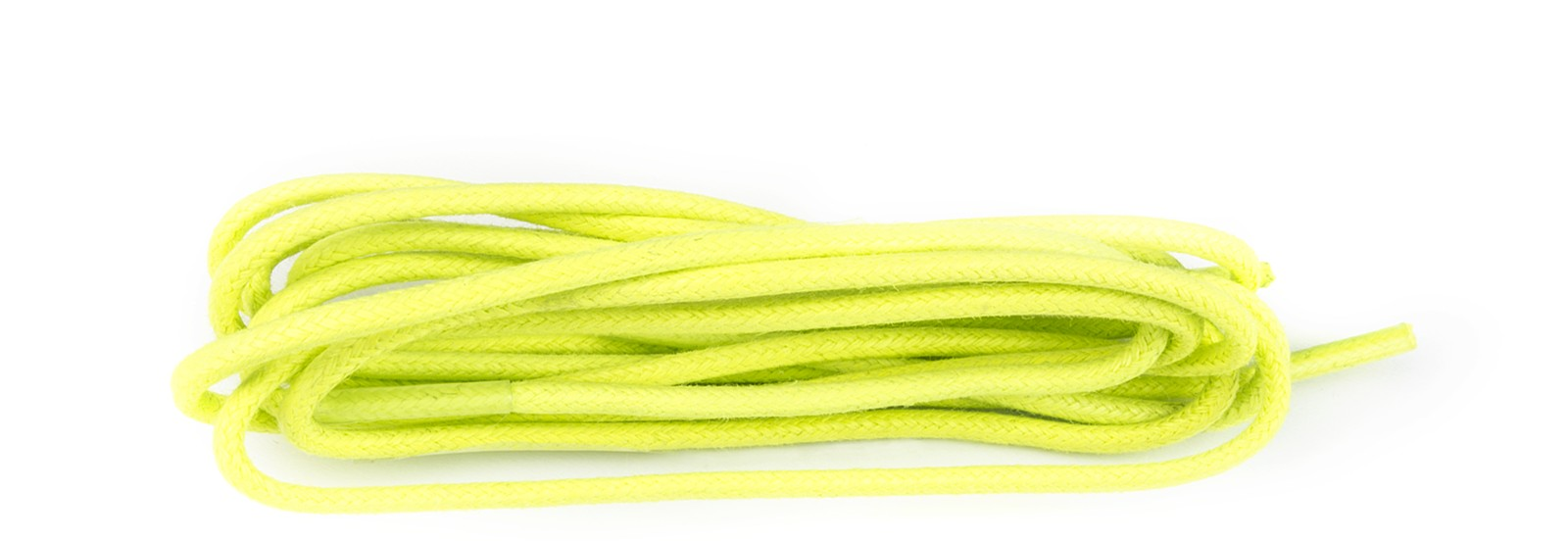 Flo Lime Yellow Wax Polished Fine Round Laces