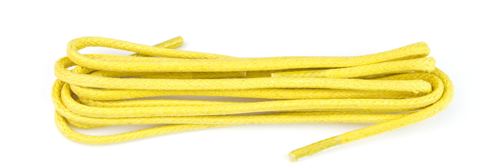 Bright Yellow Wax Polished Fine Round Laces