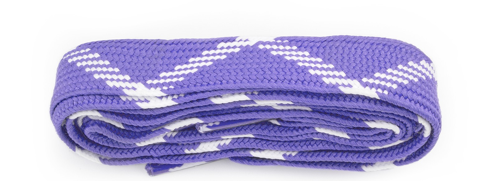 Purple/white Fat Laces