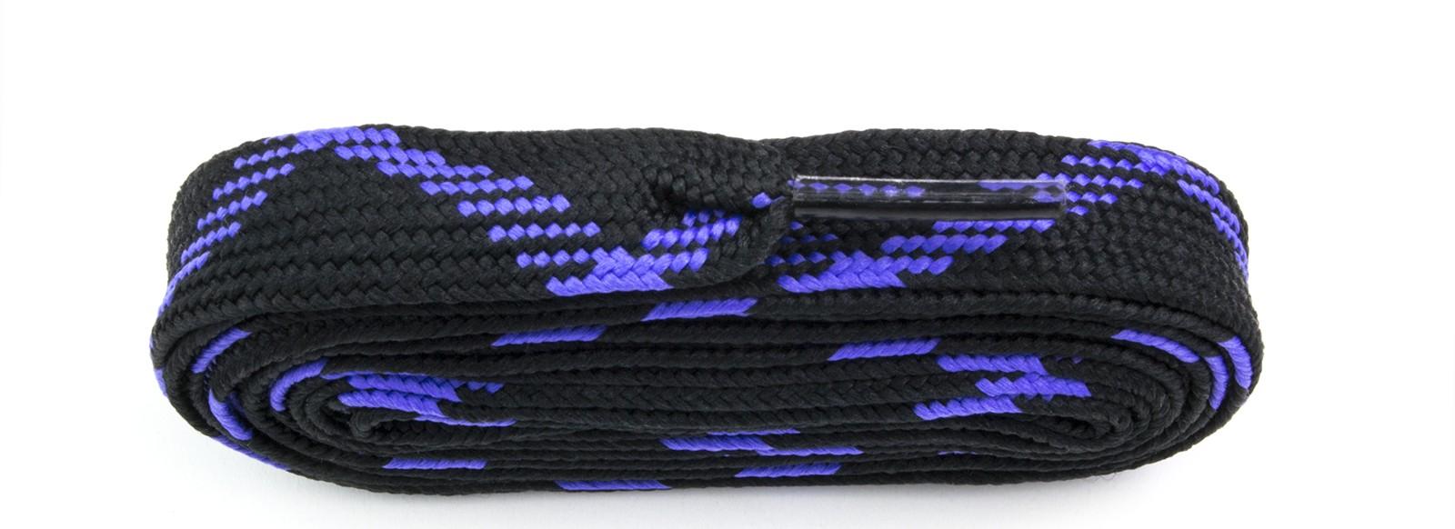 Black/purple Fat Laces