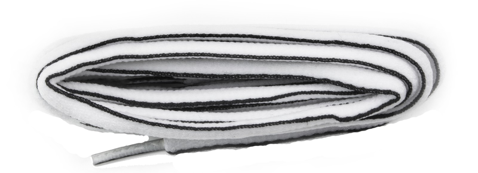 White/black Oval Laces 6mm 114cm