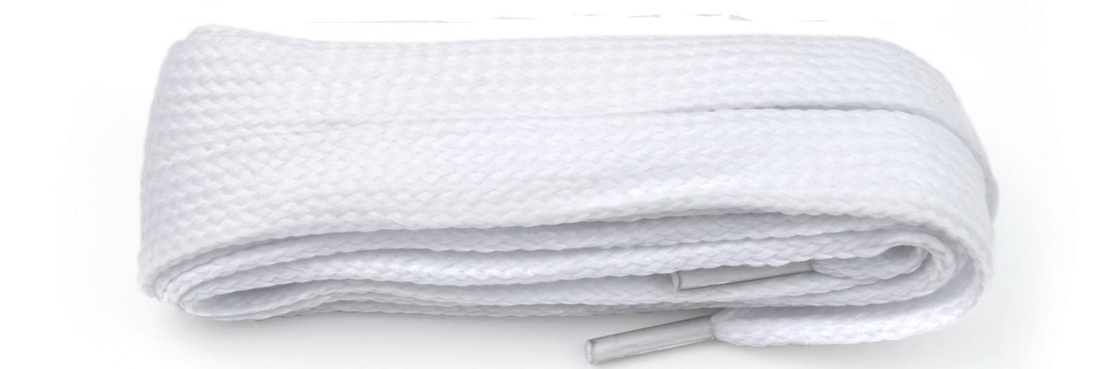 White Flat Block Laces