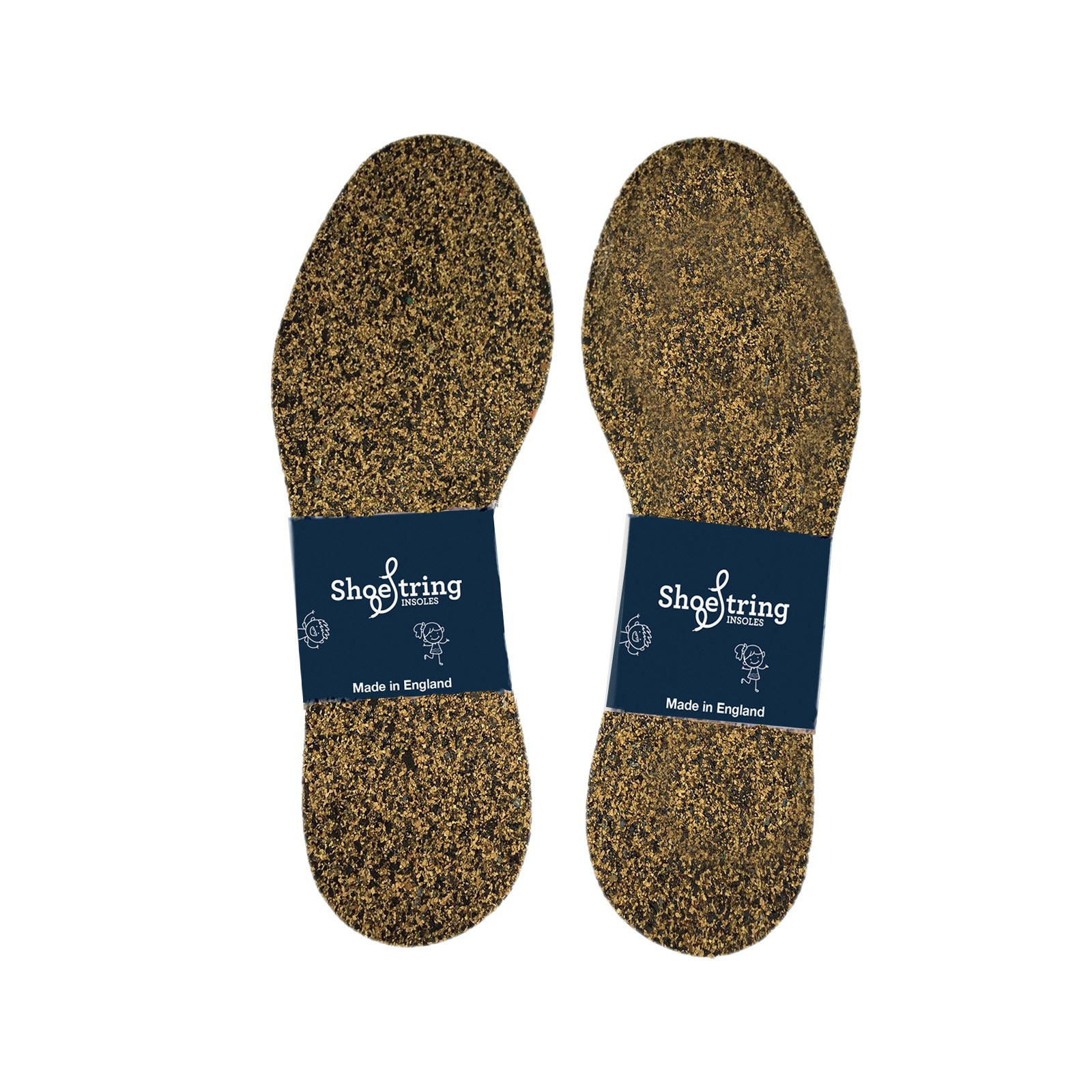 Shoestring Insoles Wrap Childs Cork Select Size