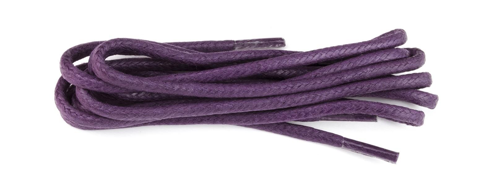 Purple Wax Polished Fine Round Laces