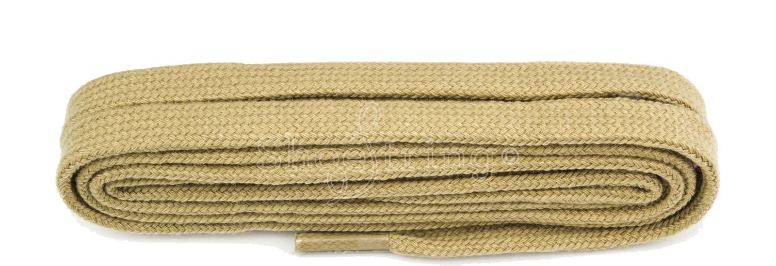Beige Flat 9mm Laces