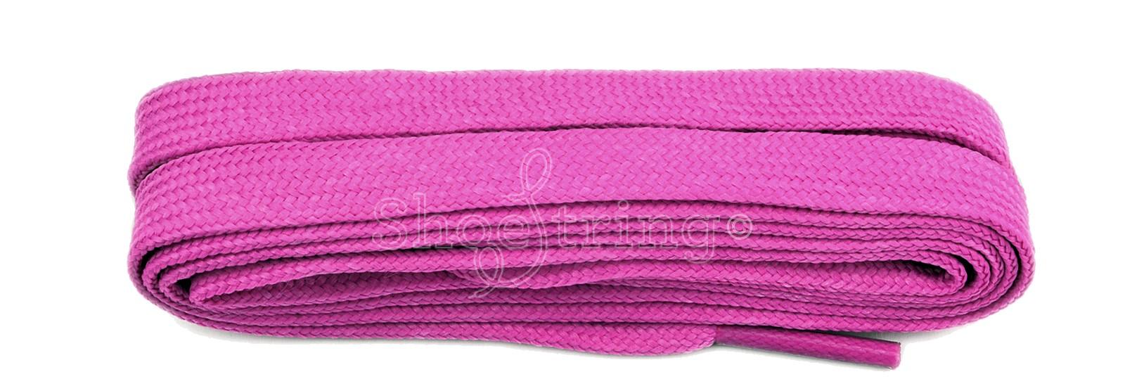 Fuchsia Pink Flat 9mm Laces