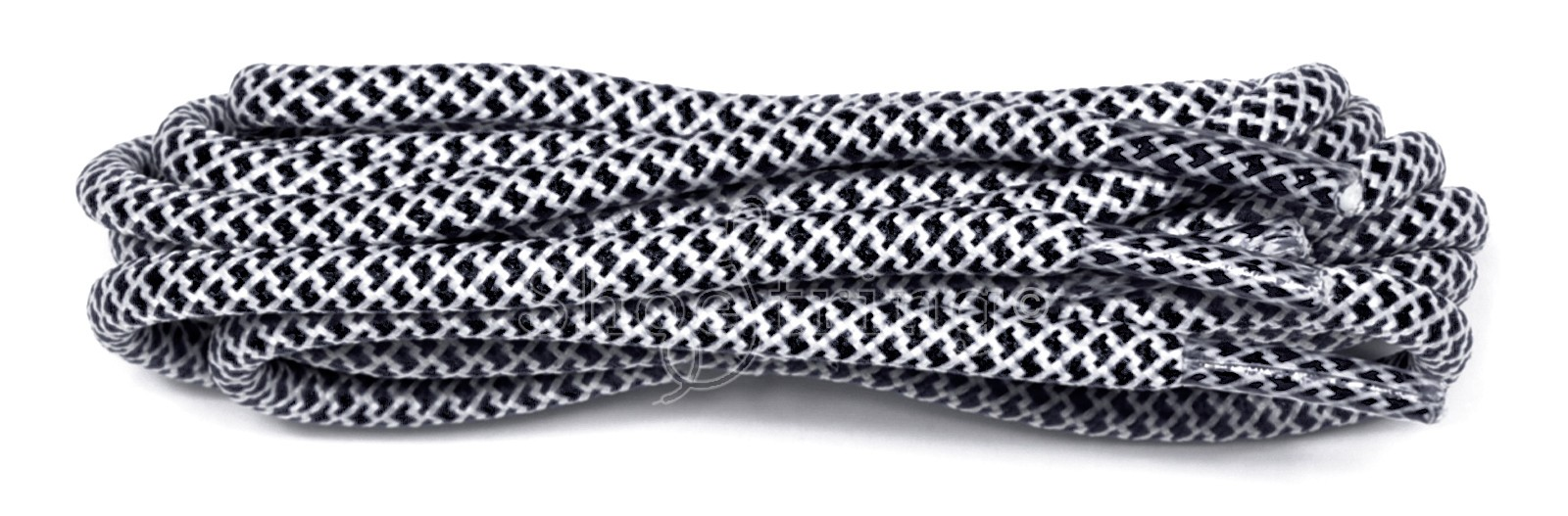 Black-white 120cm Honeycomb Rope Laces