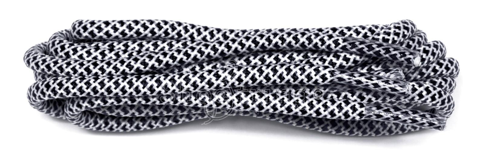 Black-white 120cm Honeycomb Rope Laces
