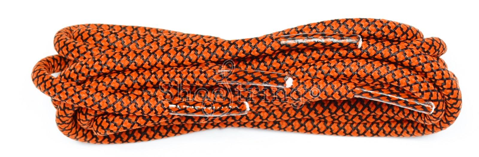 Orange-black 120cm Honeycomb Rope Laces