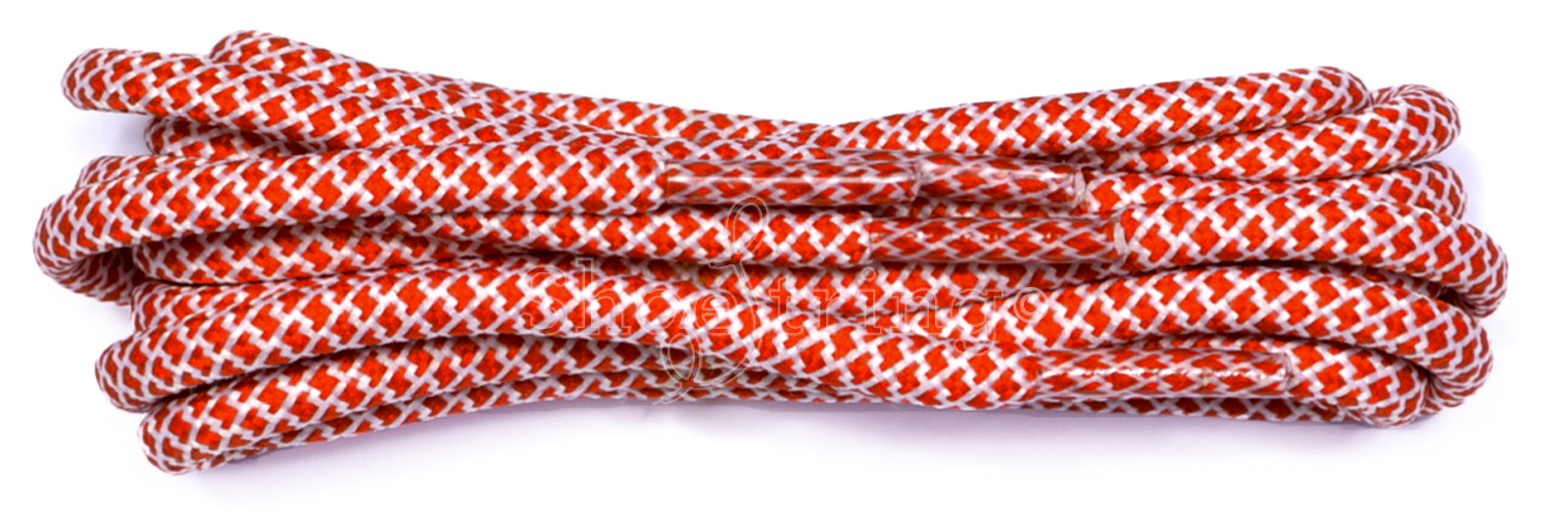 Red-white 120cm Honeycomb Rope Laces