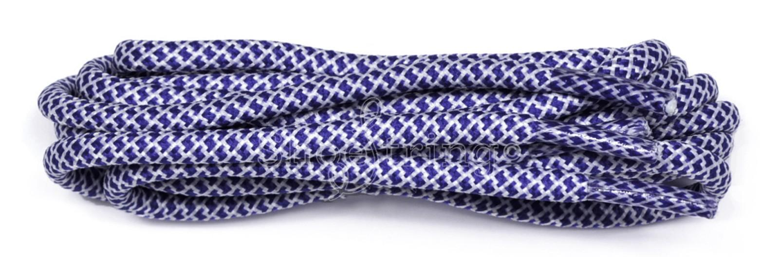 Cobalt-white Honeycomb Rope Laces 120cm